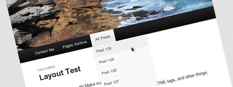 List All Posts In Nav Menus WordPress