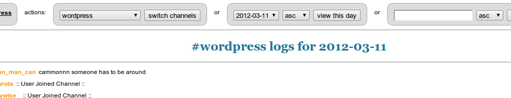 WordPress IRC Logger