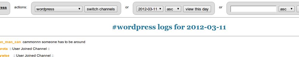 WordPress IRC Logger