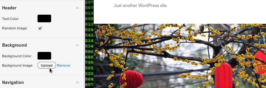 WordPress Theme Customizer File Upload