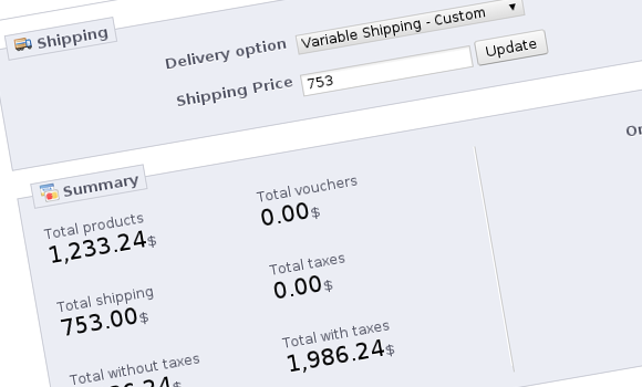 PrestaShop Variable Shipping