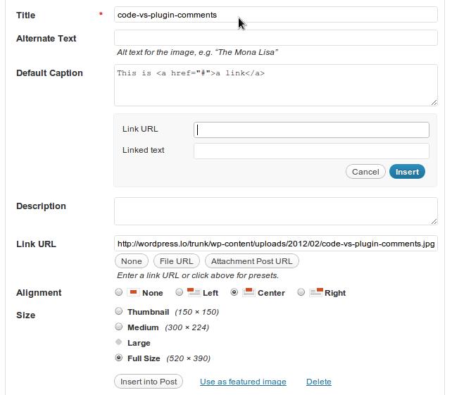 Links in WordPress Image Captions
