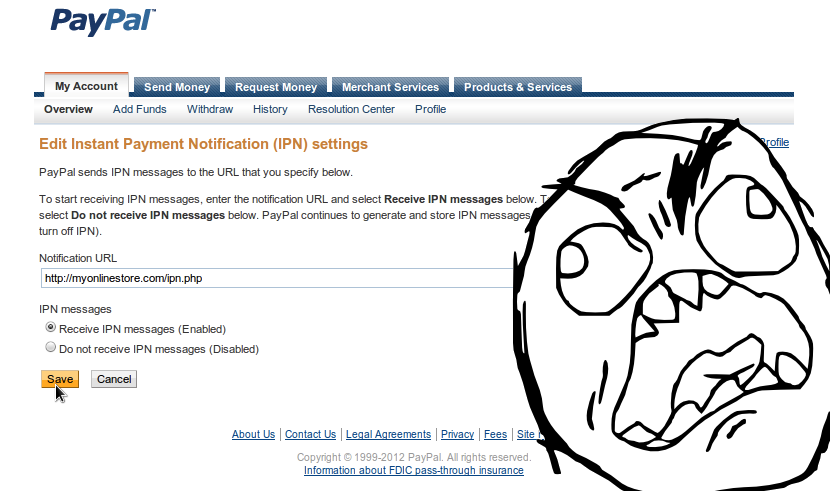 Multiple Notification URLs in PayPal