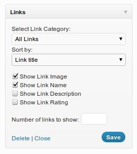 Sort and Limit Links Widget