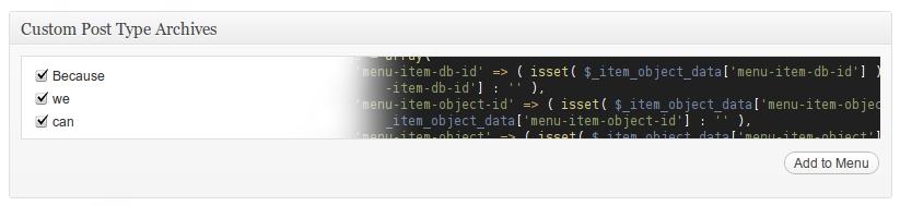Custom Post Type Archives in WordPress Menus