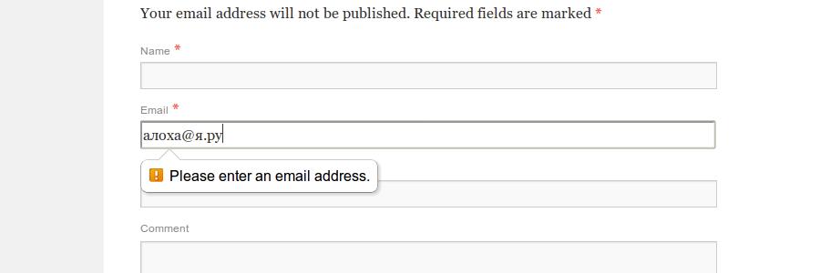 WordPress IDN Email