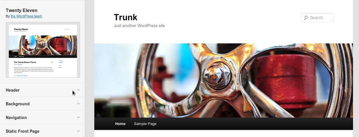WordPress Theme Customization 3.4