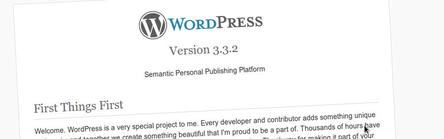 WordPress 3.3.2