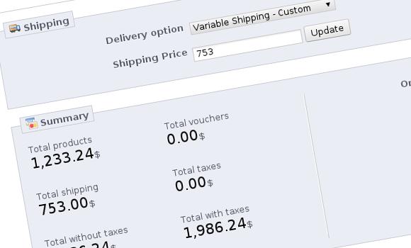 PrestaShop Variable Shipping