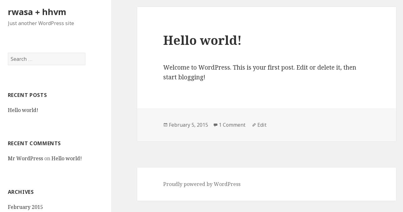 rwasa + HHVM + WordPress