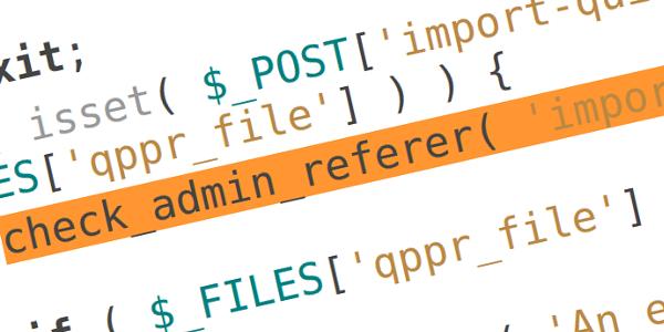 Quick Page/Post Redirect WordPress Plugin Vulnerability
