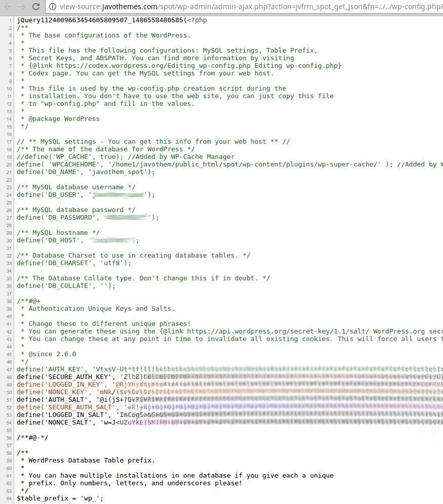 Javo Spot Theme LFI  Vulnerability in action